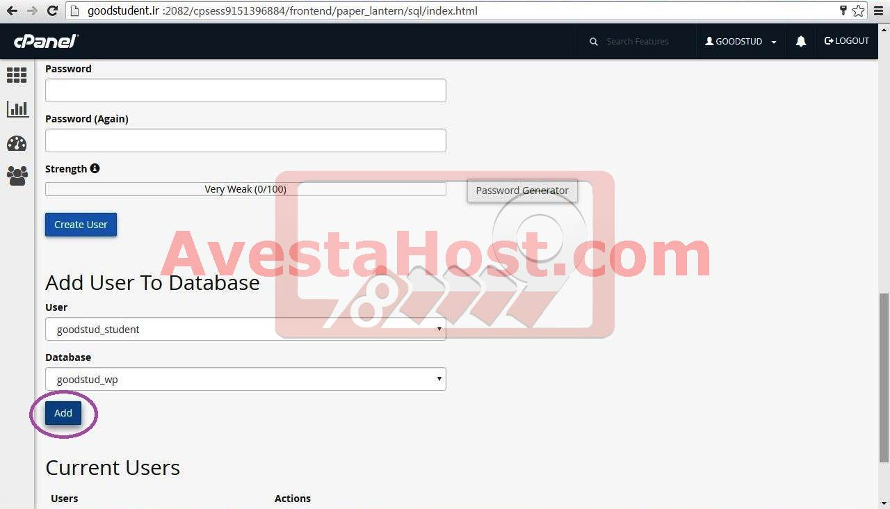 نصب وردپرس-ارتباط کاربر با دیتابیس