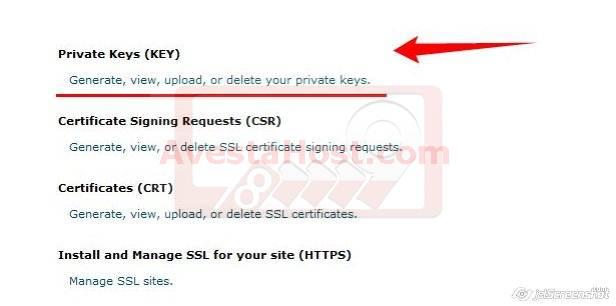 ایجاد کلید خصوصی