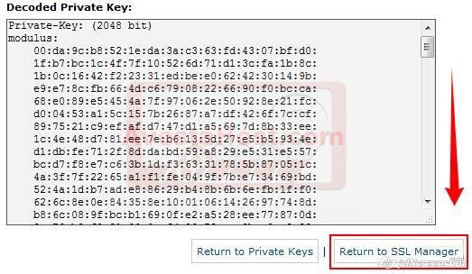 ذخیره سازی کلیدهای خصوصی در مدیریت SSL / TLS