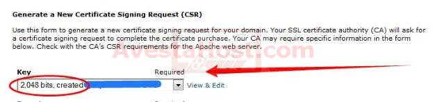 new ssl certificate signing request